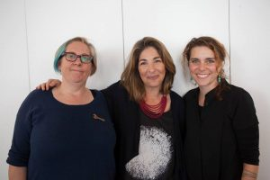 Holly and Karrina with Naomi Klein after the This Changes Everything movement gathering.