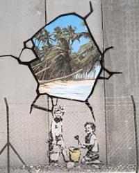 bansky mural