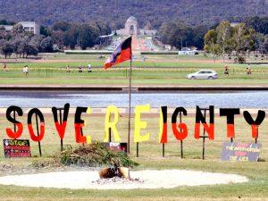 Aboriginal Tent Embassy sacred fire.